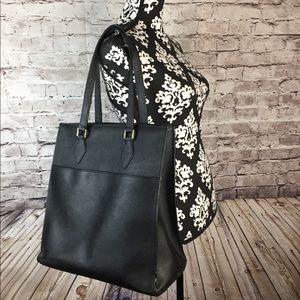 Handbags - Danier Saffiano Leather Large Tote Bag - Black